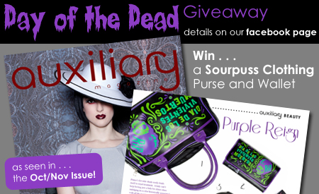 contest : Day of the Dead Sourpuss Purse Giveaway