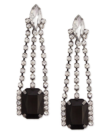 item of the week : sparkling art deco drop earrings from Plasticland