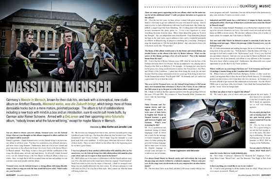 interview : Massiv in Mensch