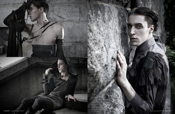 fashion editorial : Stone and Shade