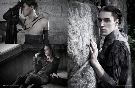 fashion editorial : Stone and Shade