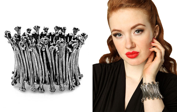 item of the week : bone stretch bracelet by Martha Rotten