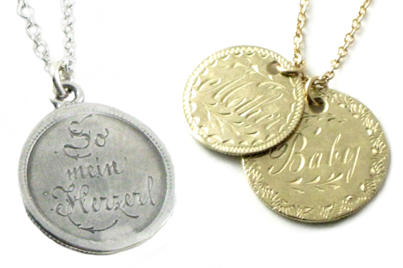 item of the week : love tokens by RockLove Jewelry