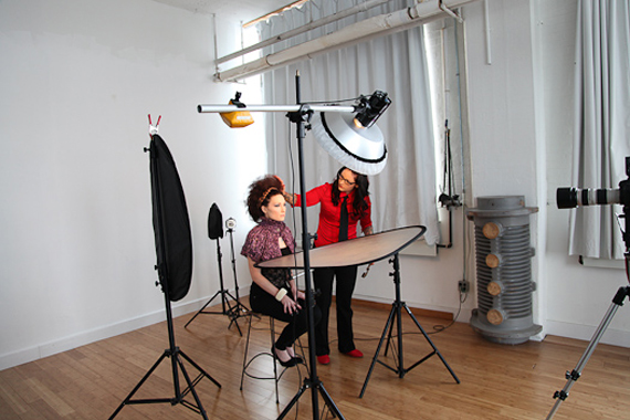 behind the scenes : Feb/March 2011 beauty editorial