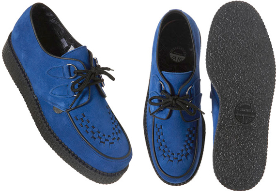 item of the week : brothel creepers blue shoe by London Underground