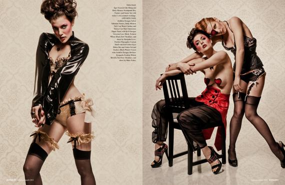 fashion editorial : Harlequin Valentine