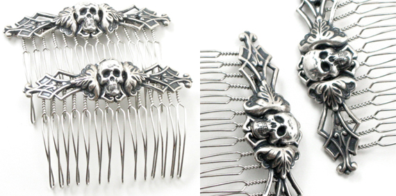 item of the week : necromance hair combs by Ghostlove Jewelry