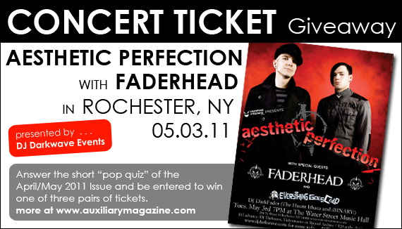 contest : Aesthetic Perfection with Faderhead ticket giveaway