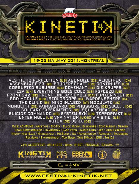upcoming : Kinetik Festival 2011