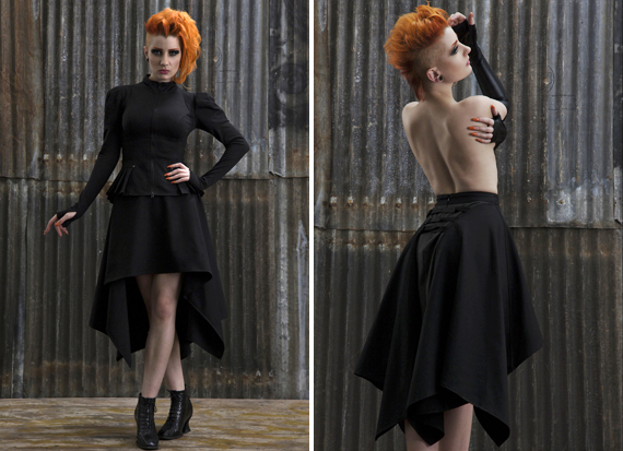 item of the week : ghst rdr skirt by Zoetica Ebb and Plastik Wrap