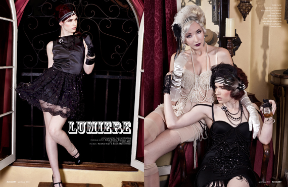fashion editorial : lumiere
