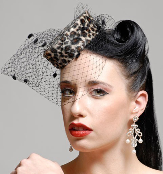 item of the week : beatrice leopard pillbox hat by Hey Sailor!