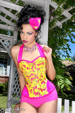 item of the week : summer edition bordeaux over bust corset by Versatile Corsets