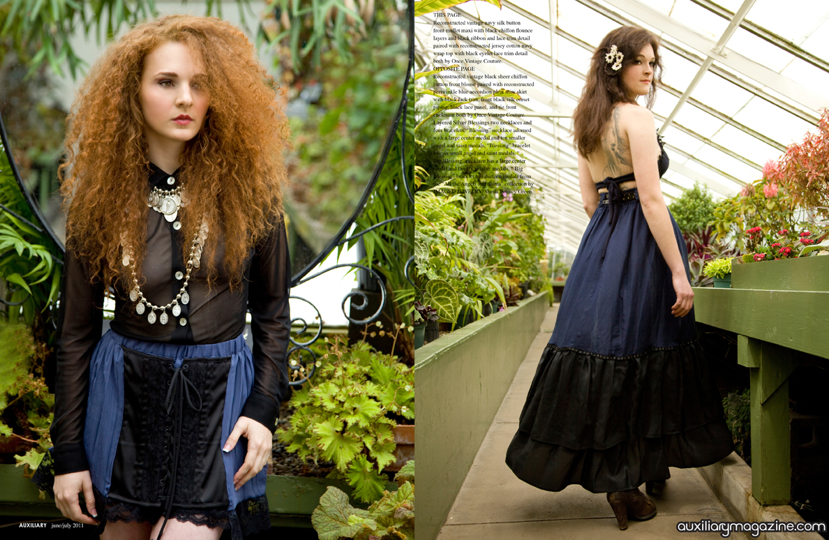 fashion editorial : conservatory