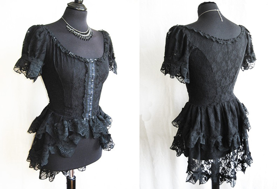 item of the week :  frances black lace victorian blouse by Somnia Romantica