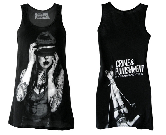 item of the week : ladies black blindfold tank by A is for Arsenic