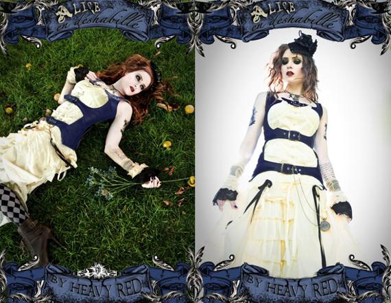 item of the week : alice en déshabillé – noir alice in wonderland costume and corset by Heavy Red