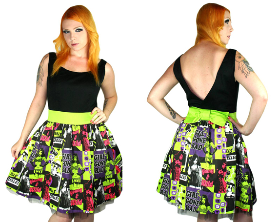 item of the week : gracie dress in gonebad print by Too Fast