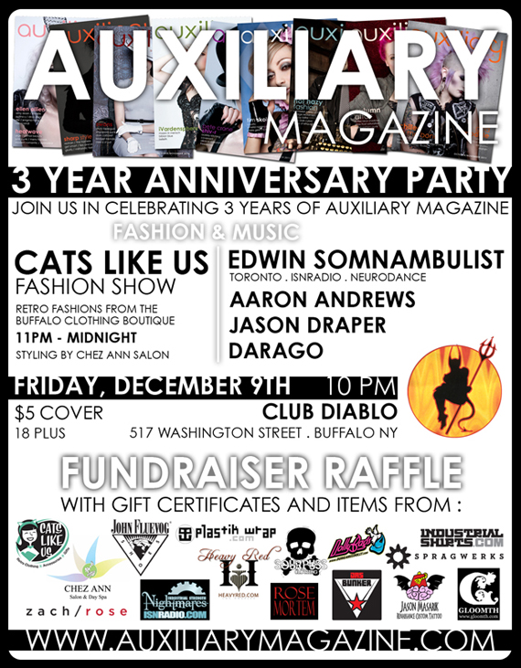 3 year anniversary party and Cats Like Us fashion show
