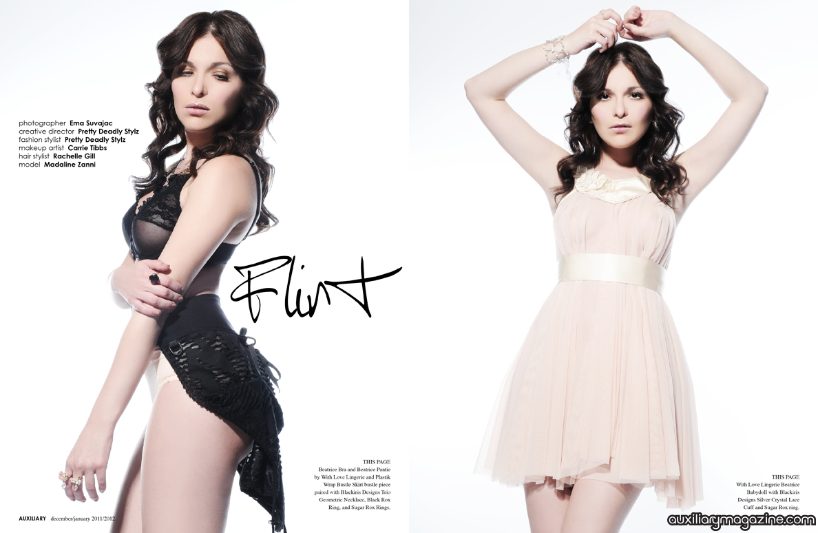 fashion editorial : flirt