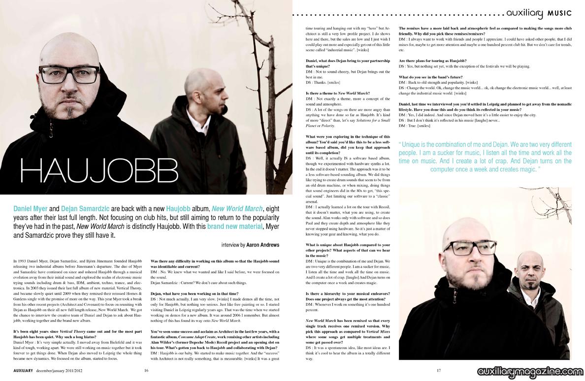 interview : Haujobb