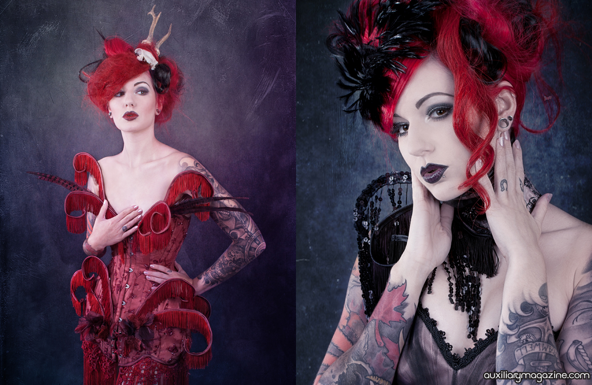 fashion editorial : flame of the forest