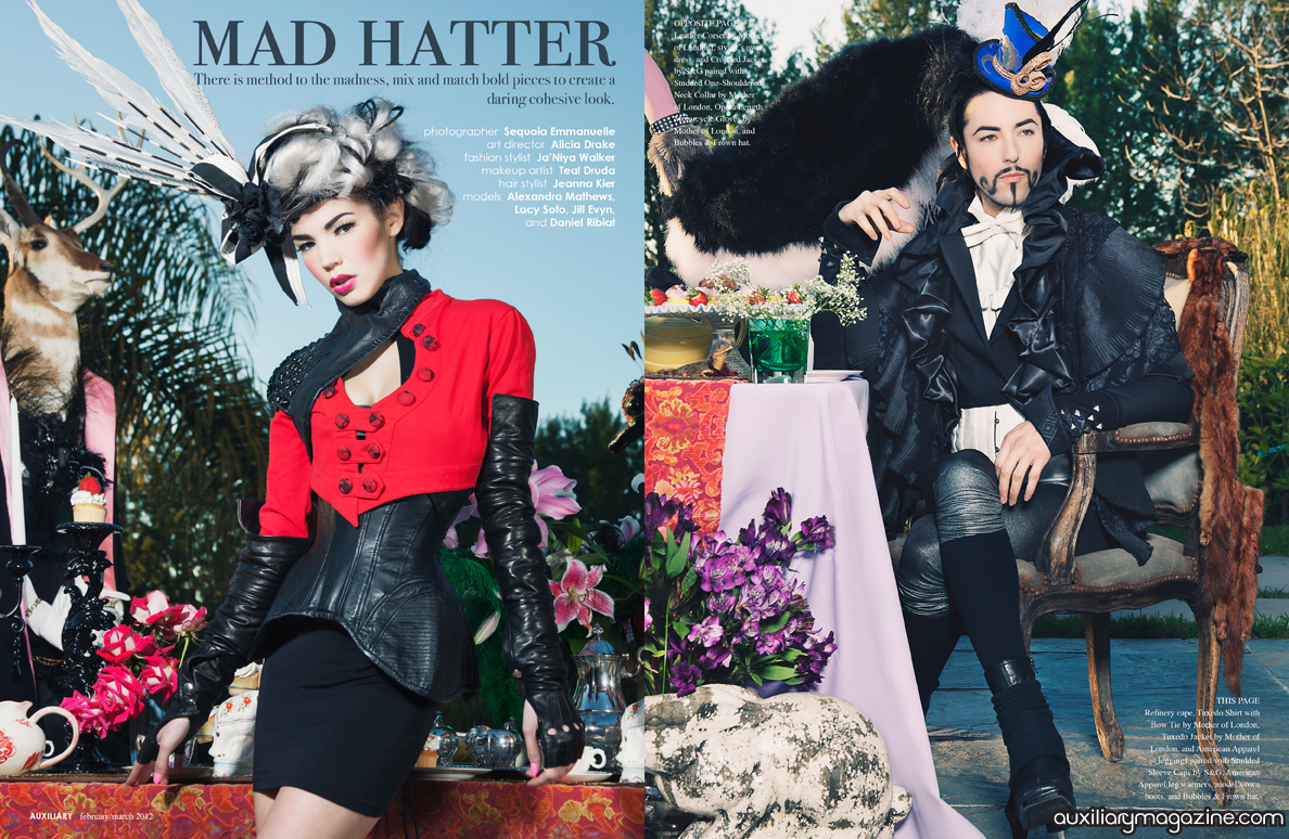 fashion editorial : mad hatter