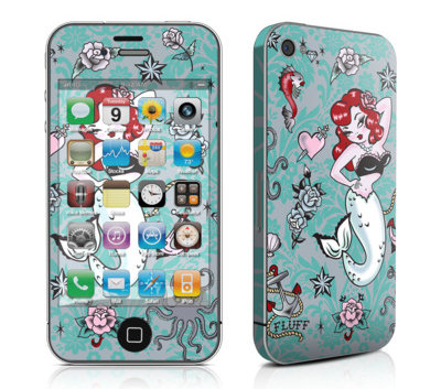 item of the week : molly mermaid mobile phone skin by Fluff