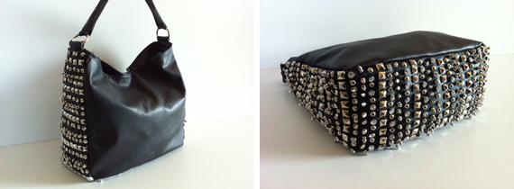 item of the week : Studs, Spikes & Jewels Hobo Purse by Karen Kalashnik