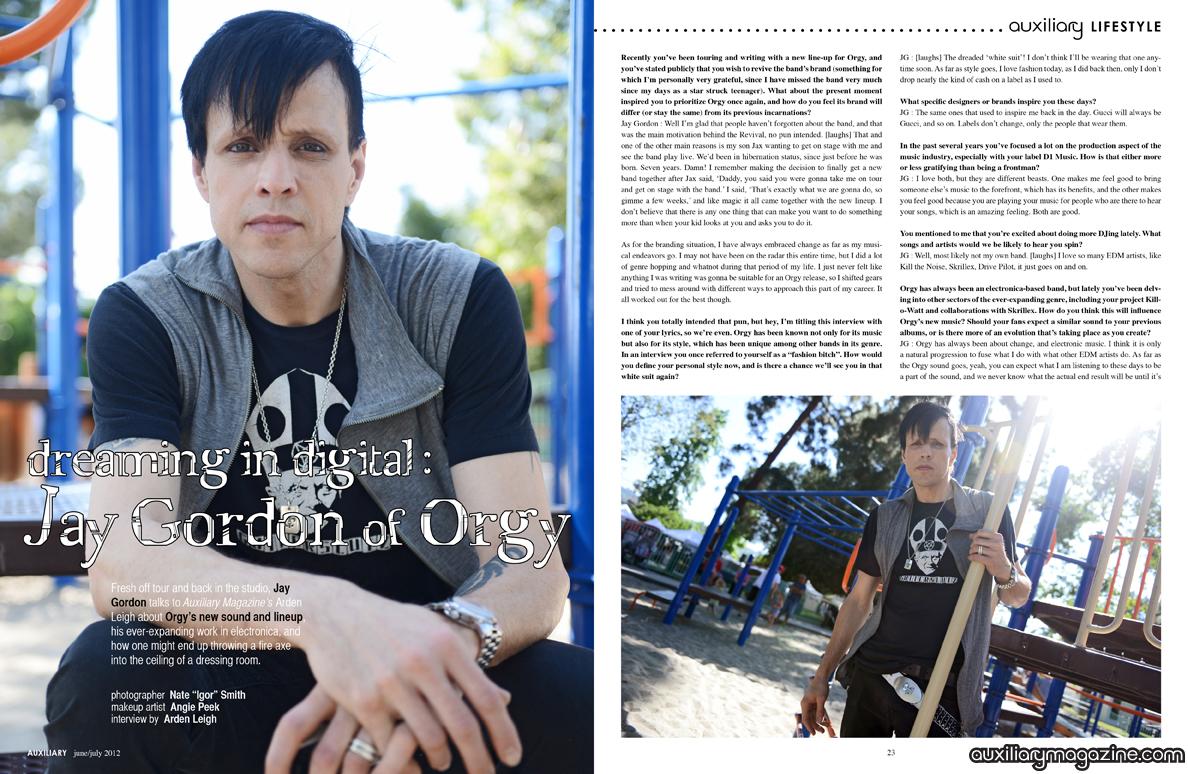 interview : Jay Gordon of Orgy