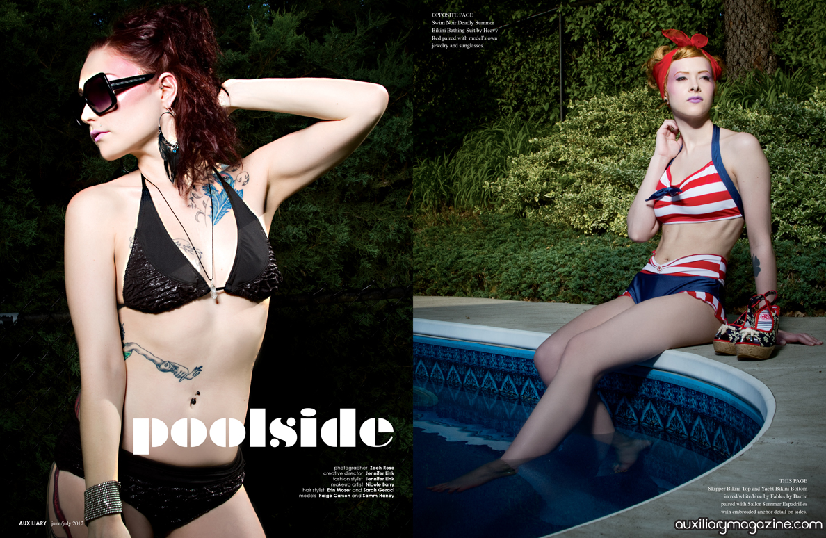 fashion editorial : Poolside