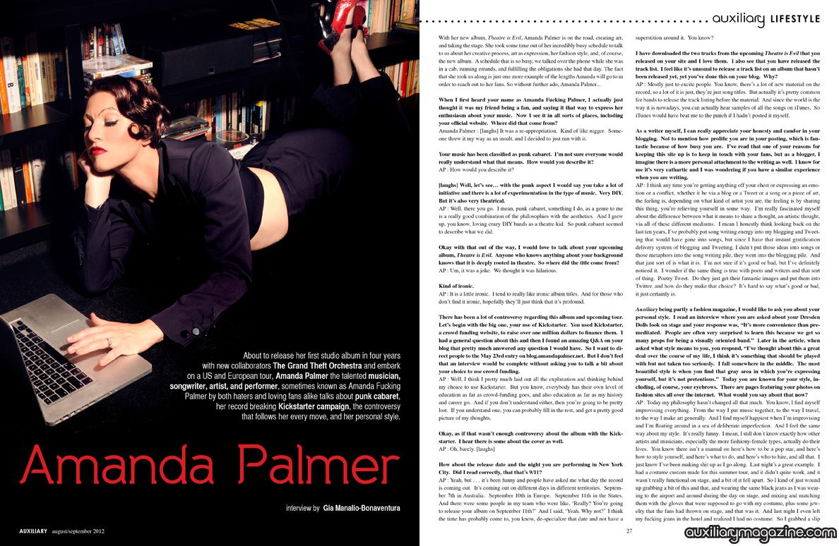 interview : Amanda Palmer