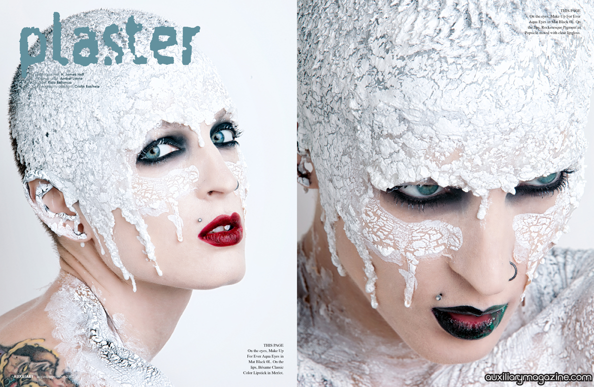 beauty editorial : Plaster