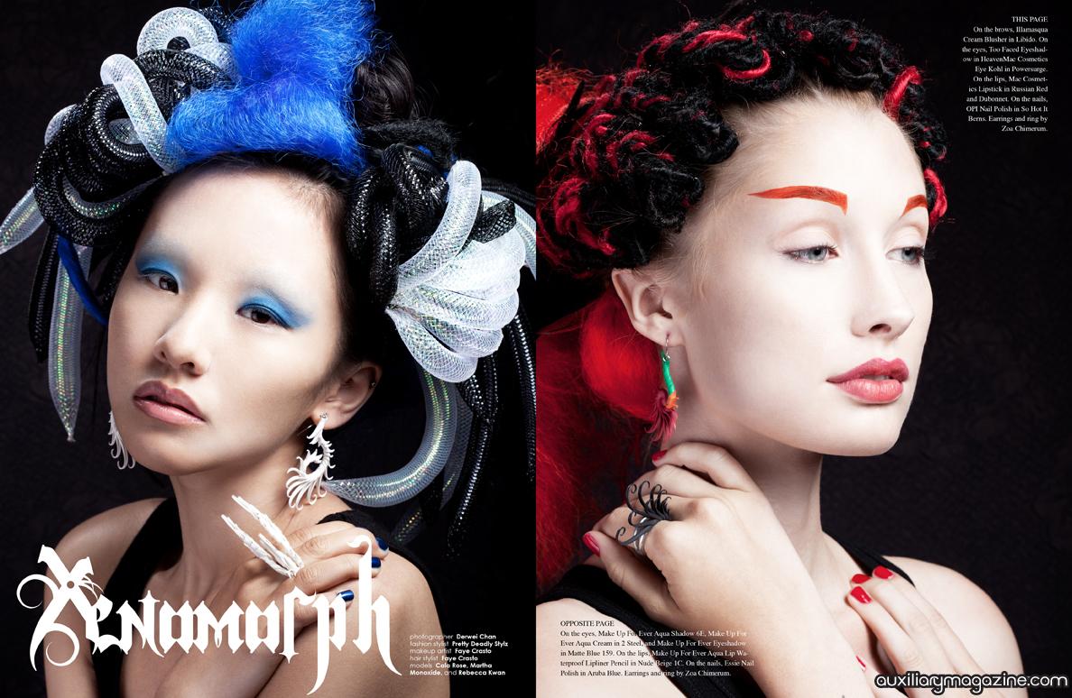 beauty editorial : Xenomorph