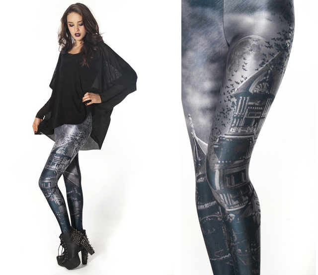item of the week : Haunted House Leggings by Black Milk