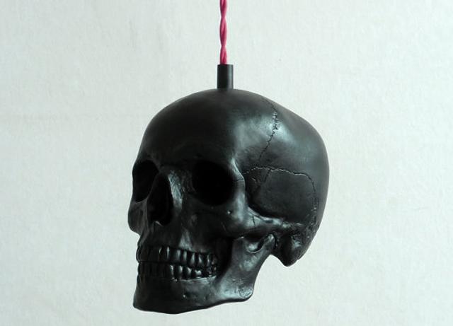 item of the week : Skull Pendant Light by Raw Dezign