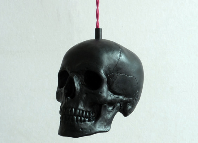 item of the week : Skull Pendant Light by Raw Dezign