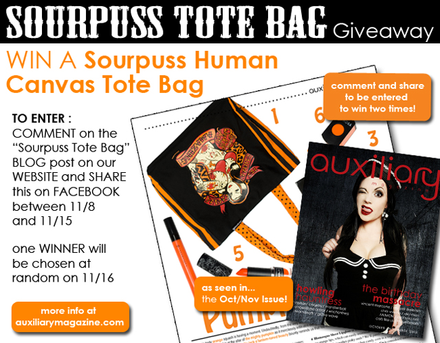 contest : Sourpuss Tote Bag Giveaway