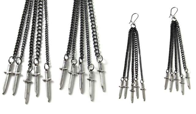 item of the week : The Five Wounds Earring Set by Ghostlove