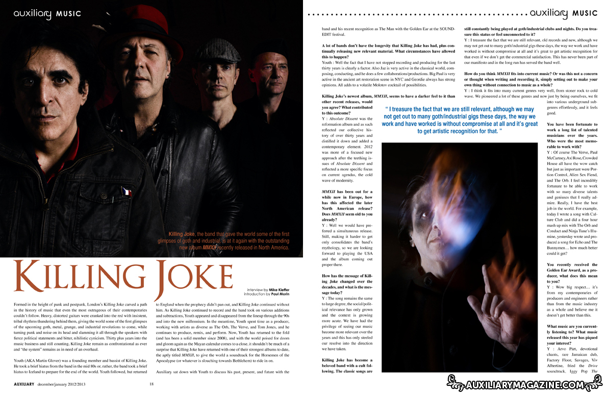 interview : Killing Joke