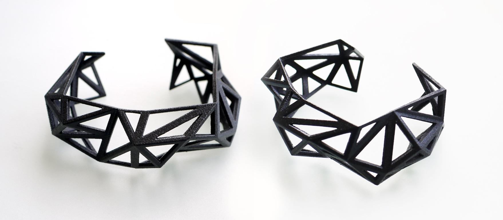 Triangulated Cuff Bracelet by ArchetypeZ