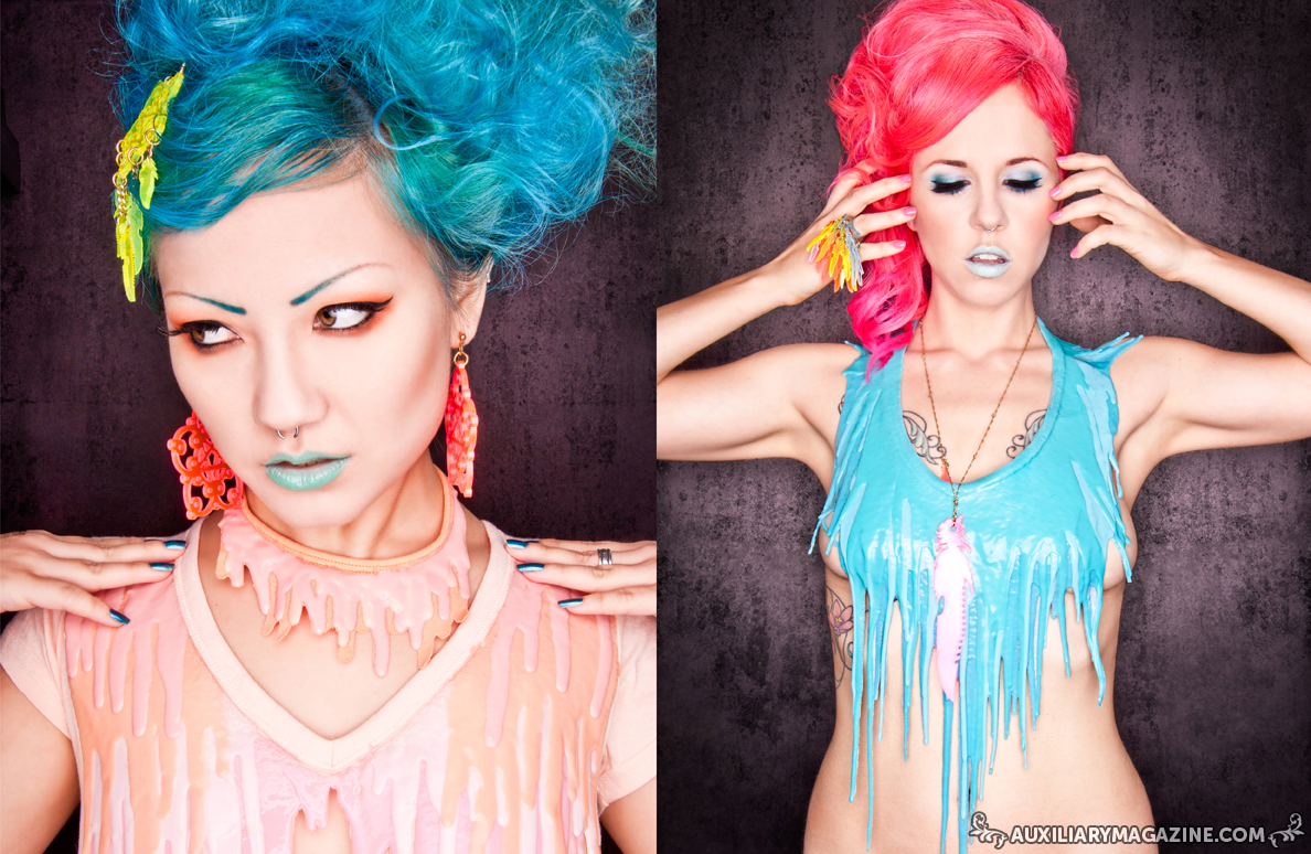 beauty editorial : Candy Coated