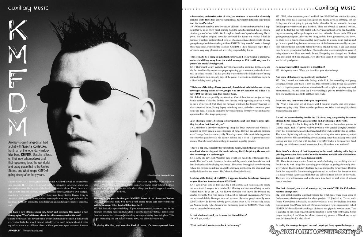 interview : KMFDM