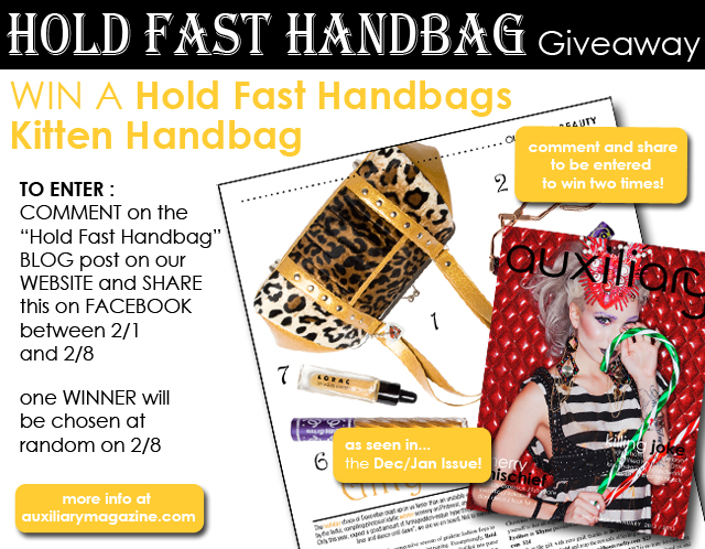 contest : Hold Fast Handbag Giveaway