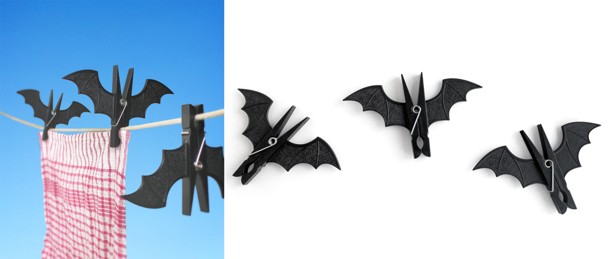 item of the week : Spooky Bat Pegs by SuckUK