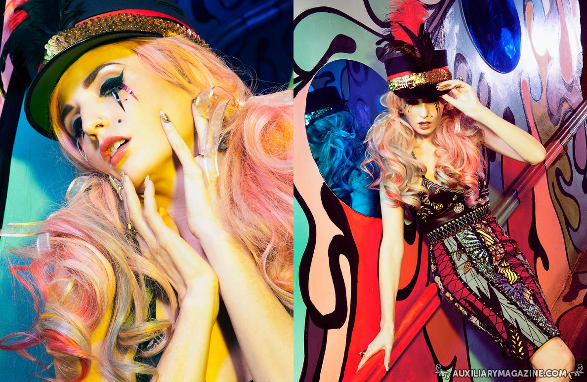 fashion editorial : Audrey Kitching in Night Circus