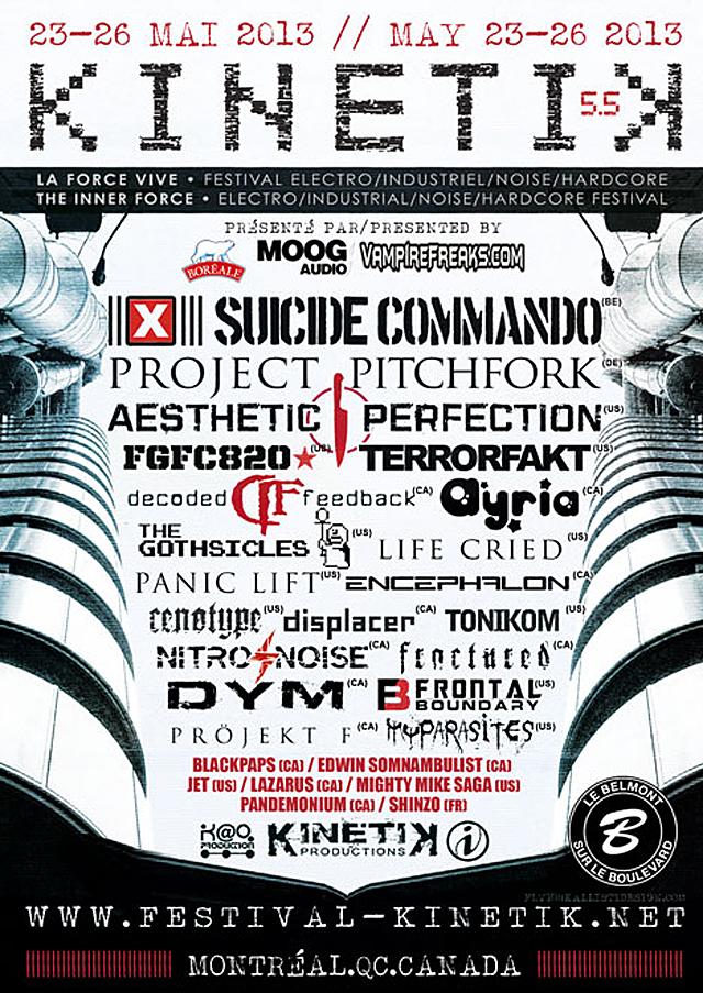 Kinetik Festival flyer