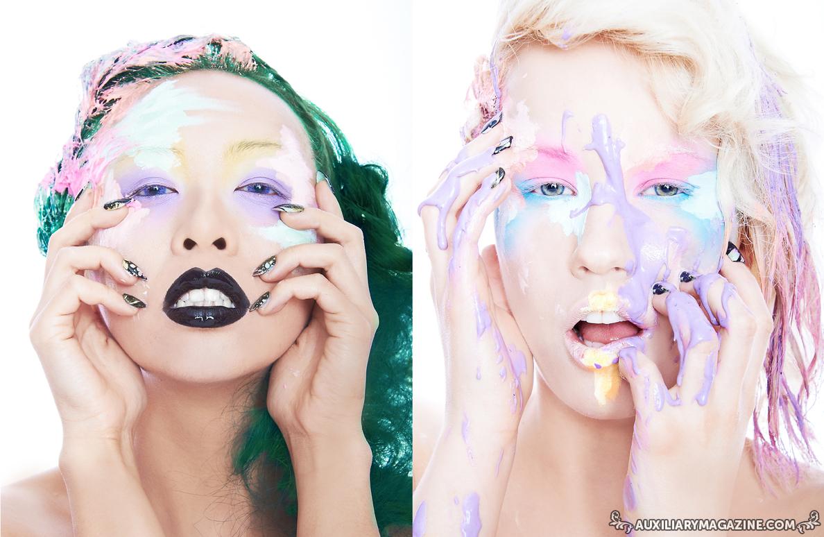 beauty editorial : Oils & Pastels