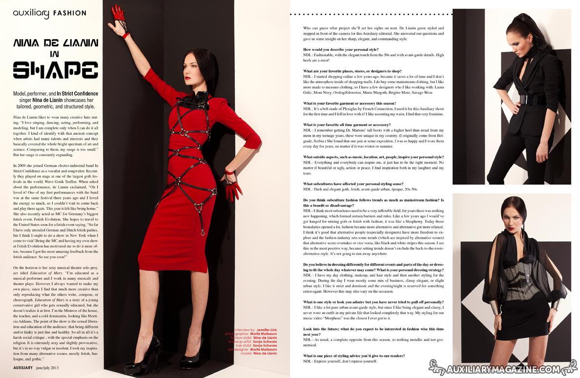 fashion editorial : Nina de Lianin in Shape