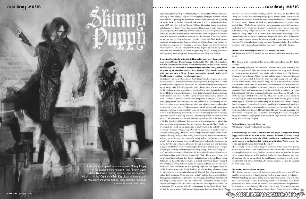 interview : Skinny Puppy